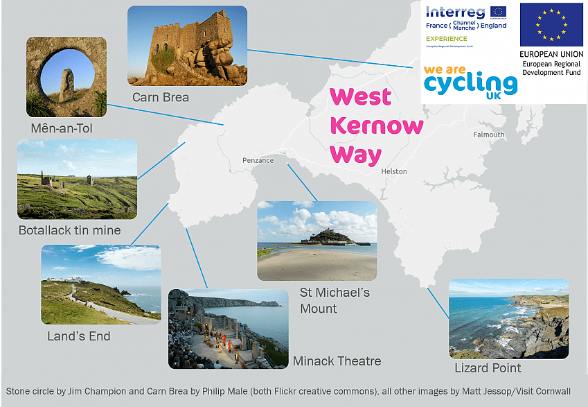 Infographic of the West Kernow Way