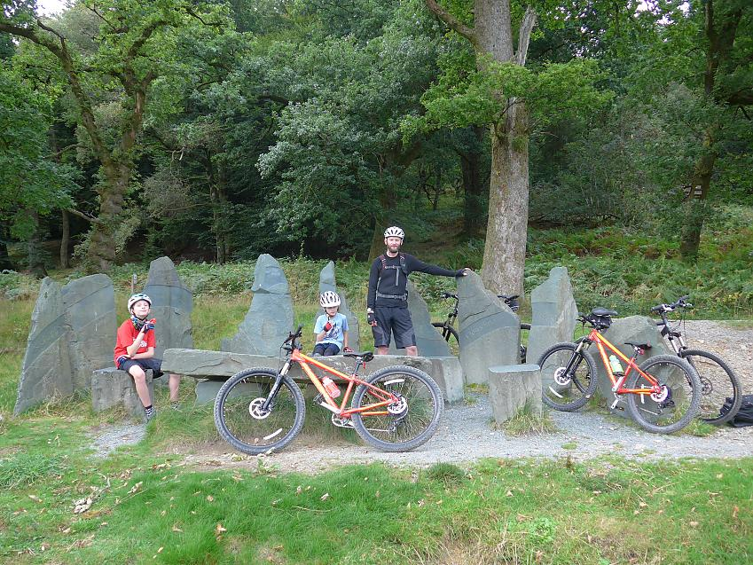 Whinlatter lunch stop at the table and chairs. Photo by Karen Gee.