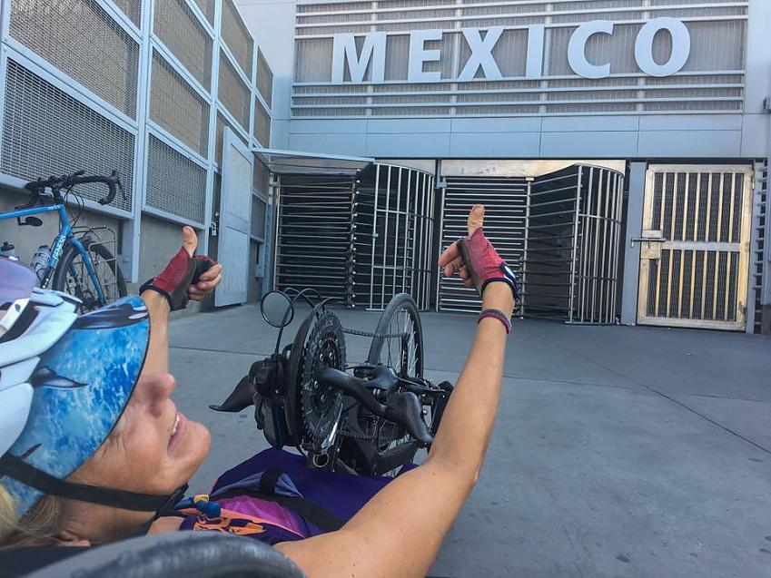 Karen Darke arrives in Mexico