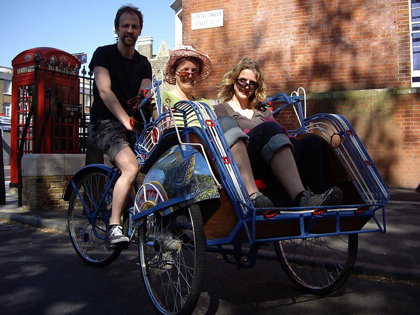 A pedicab in action
