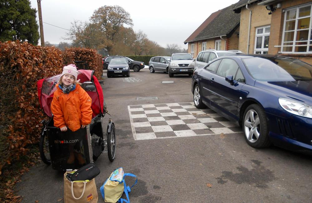Josie Dew and family arrive at school and avoid the queues.