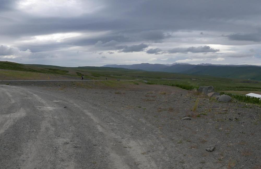 Bleak Icelandic landscape