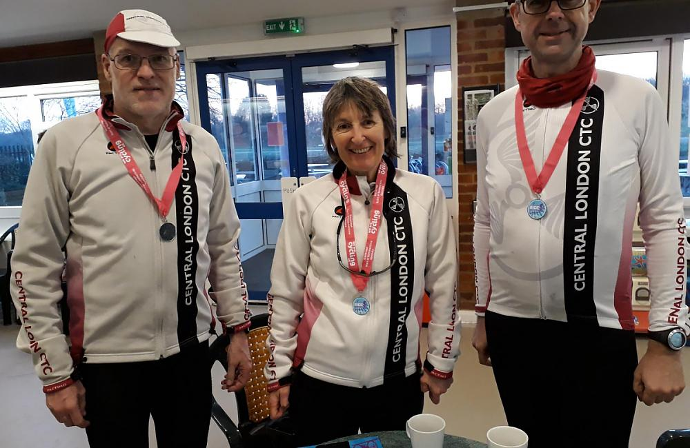 Riders from CTC London with their medals