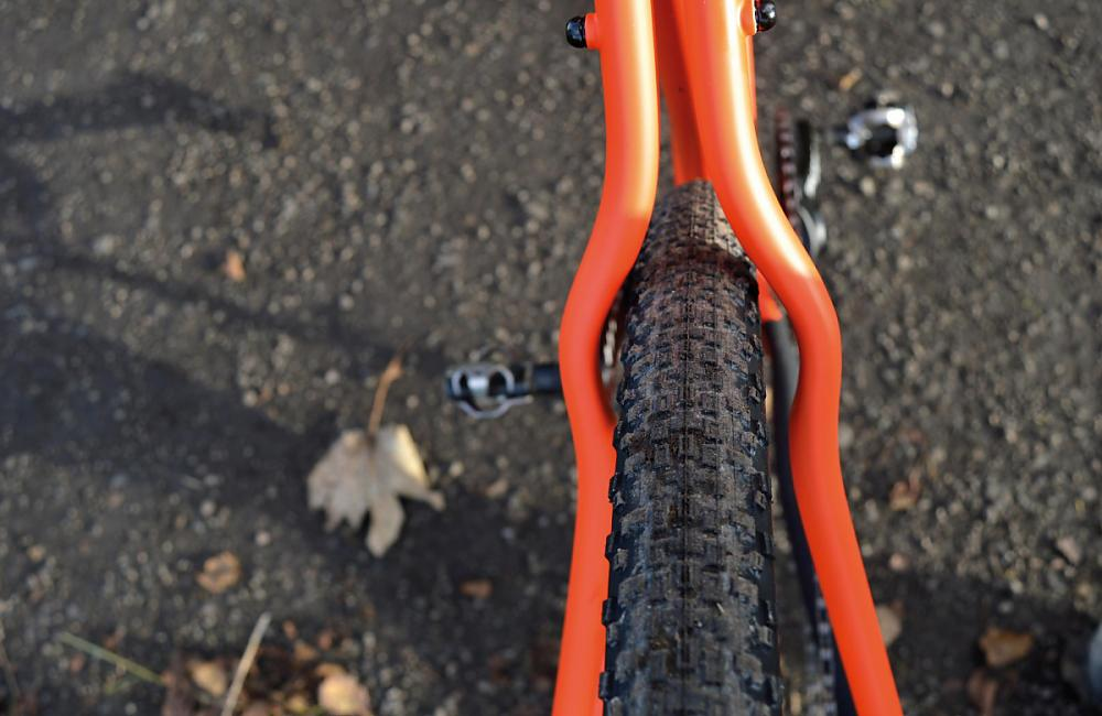 Wider 650B tyres will also fit