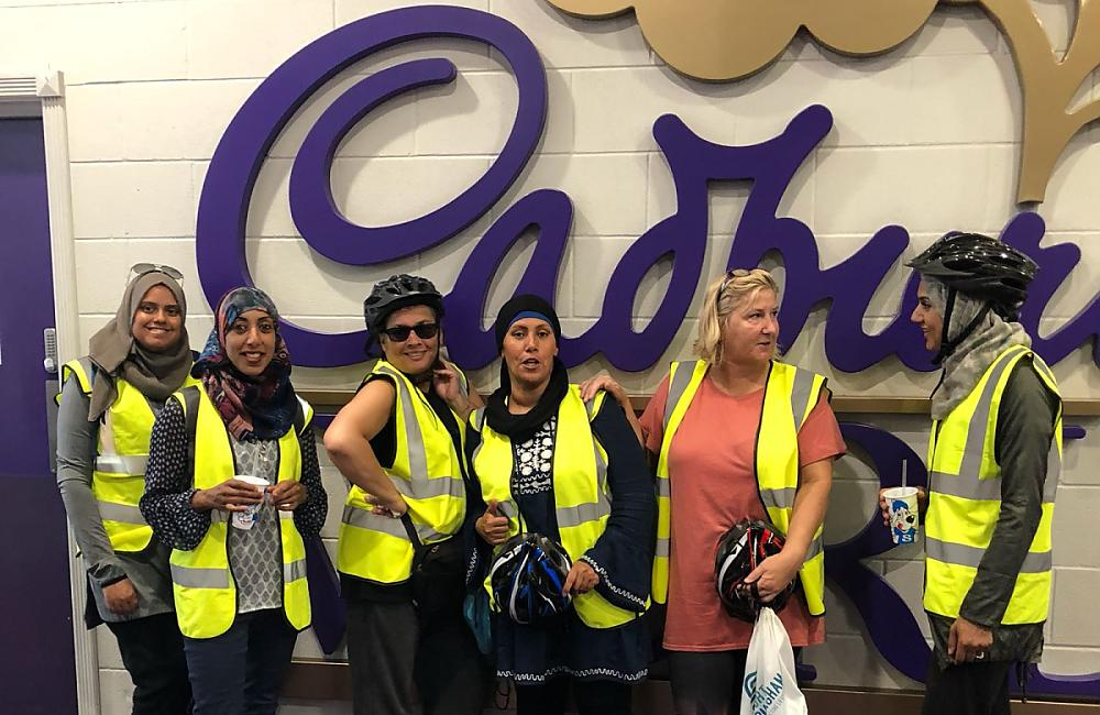 Share CCC outside the Cadbury factory