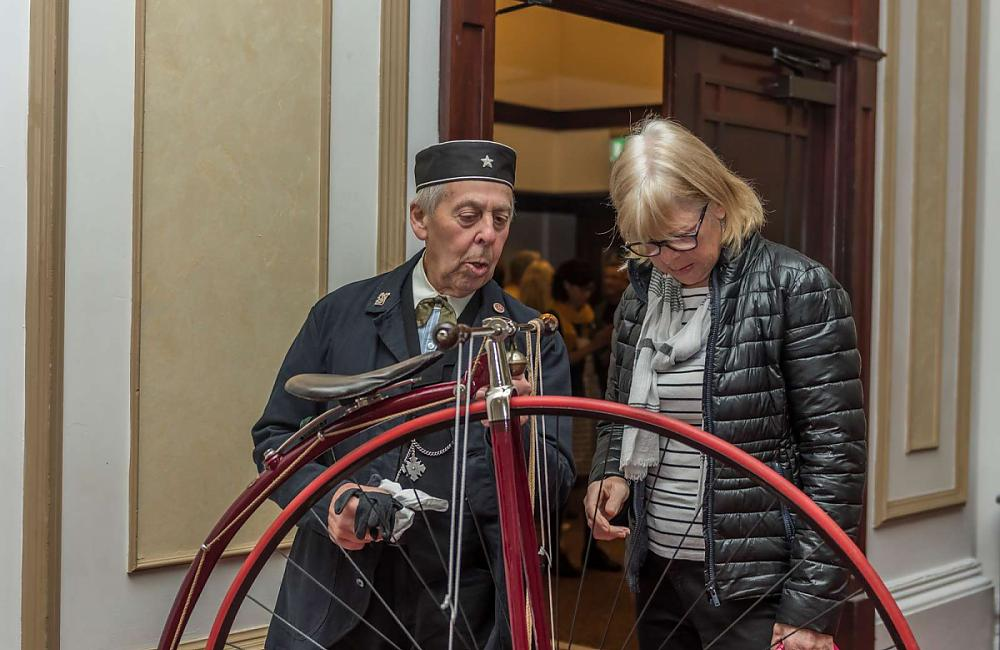 Bygone Bykes cycling club show their vintage bikes