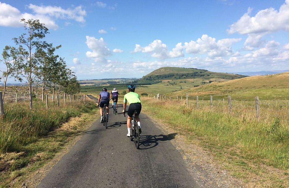 Riders on a descent in the Lakes. Photo: Eden Valley CTC