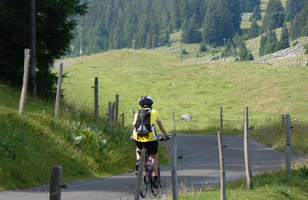 Izaak on Combe des Amburnex high in the Jura on last day