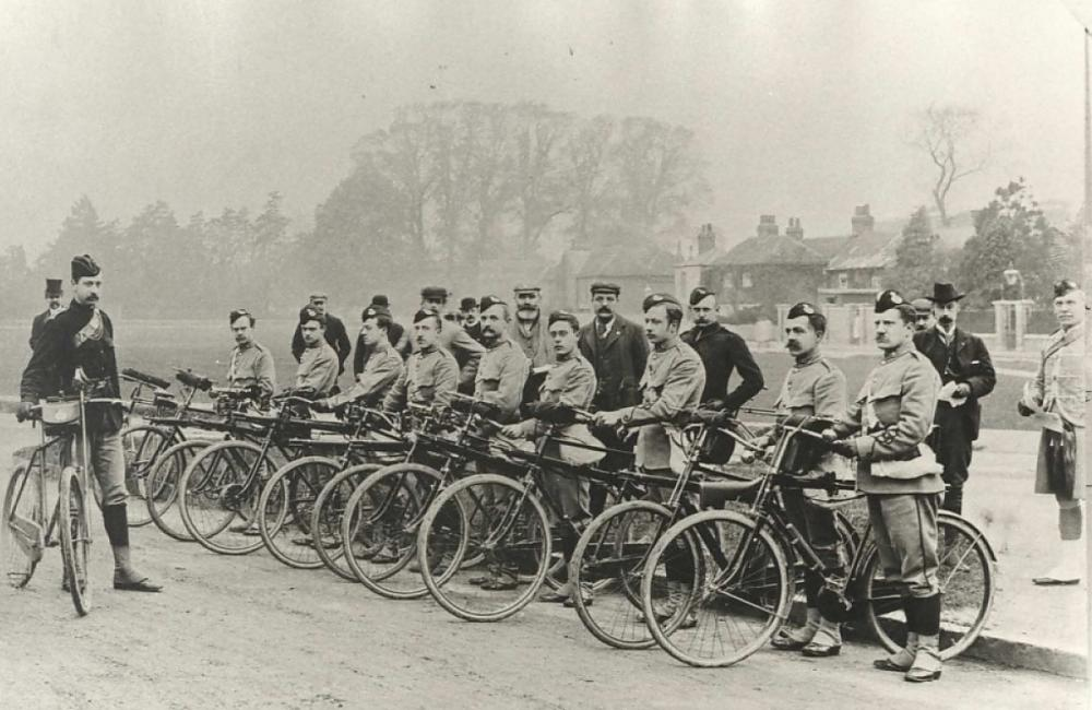 Cyclists battalion, courtesy of the Modern Records Centre, University of Warwick