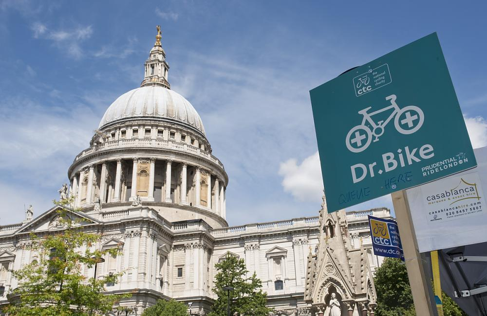 Dr Bike at St Pauls was a busy spot