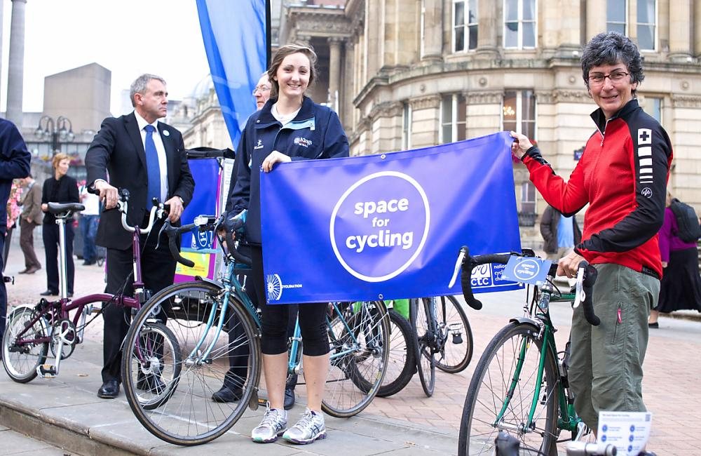 Flying the flag for CTC's national Space for Cycling campaign