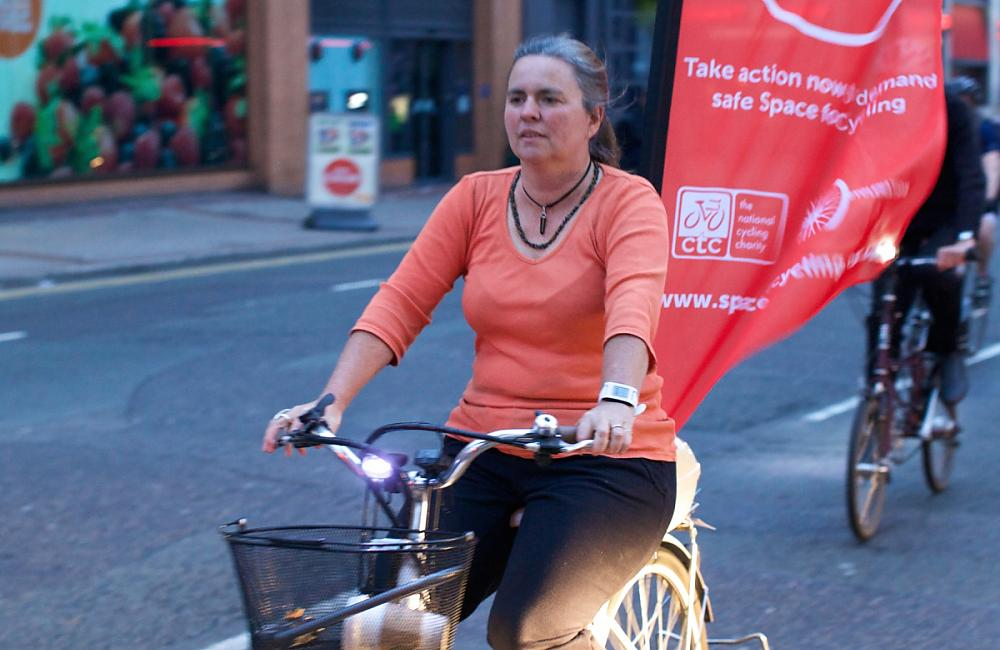 Flying the CTC's national Space for Cycling campaign
