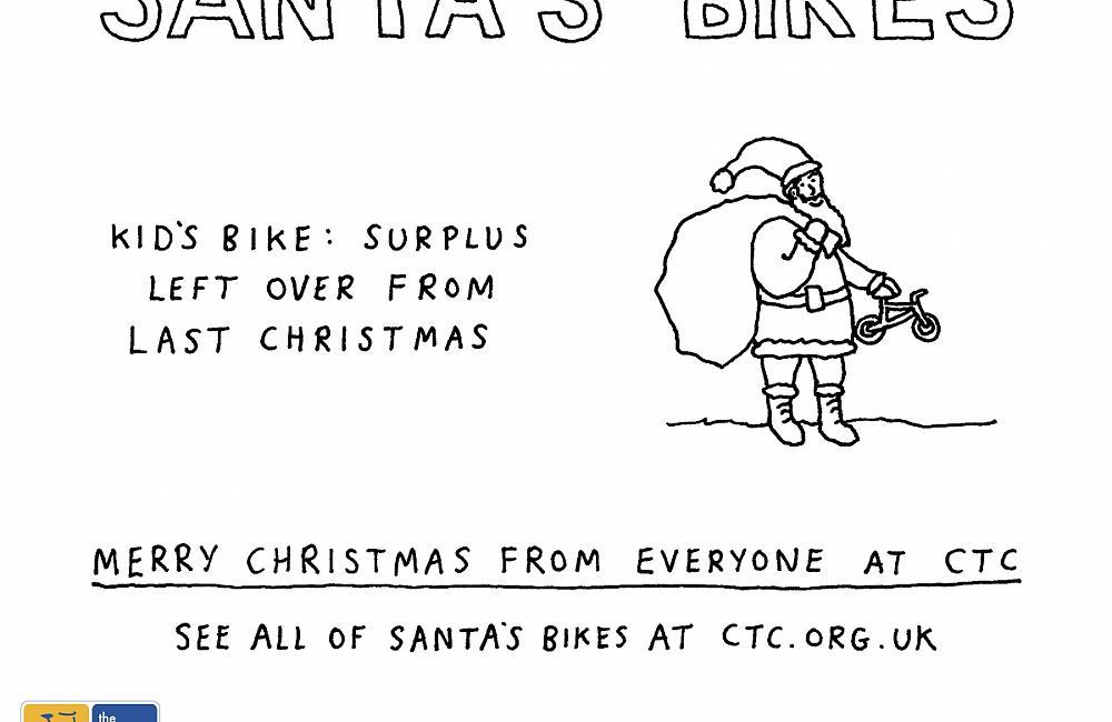 Kid's bike left over from last Christmas