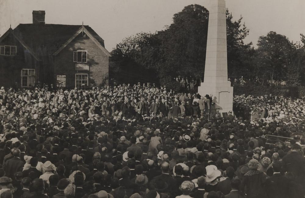 Cyclists War Memorial - Unveiling in 1921,  (MRC, UoW)