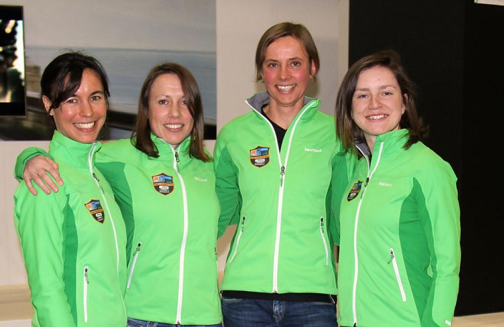 The Team CTC riders: Tamina, Helen, Astrid & Lydia