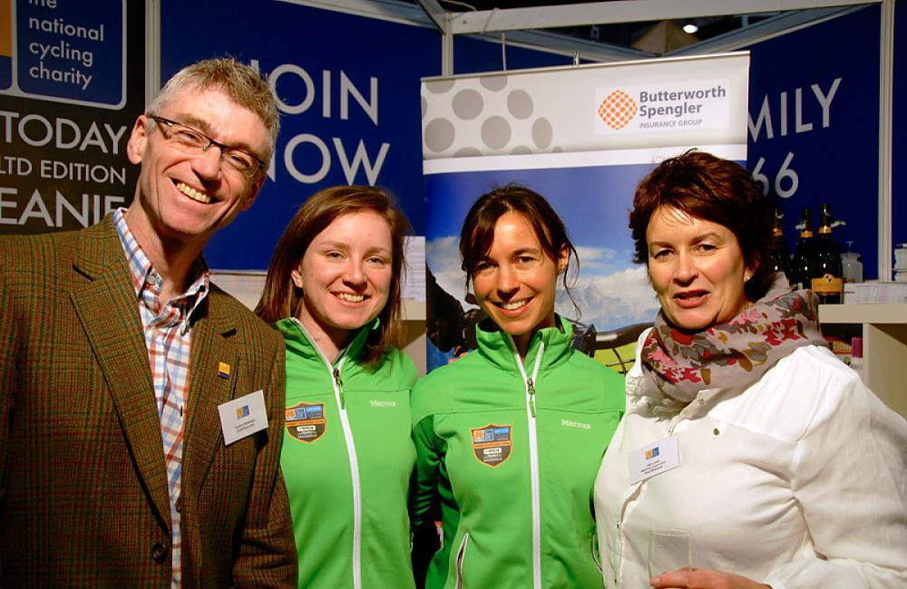 Gordon Seabright (Chief Exec of CTC), Lydia, Tamina & Jaki Lowe (CTC Councillor)