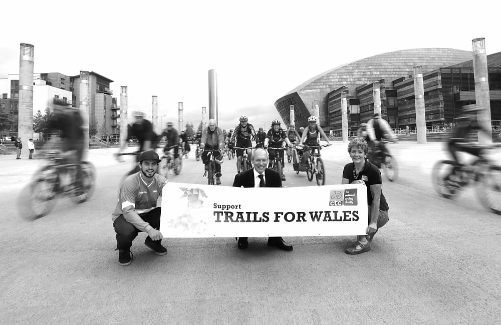 Supporters for Trails for Wales in Cardiff