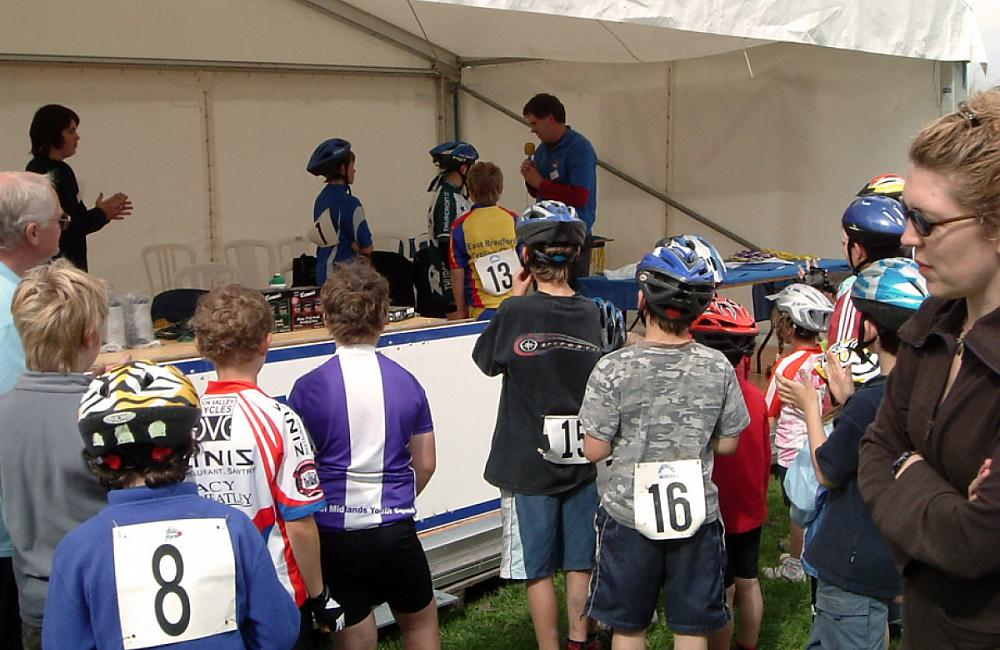 Young riders collect their prizes