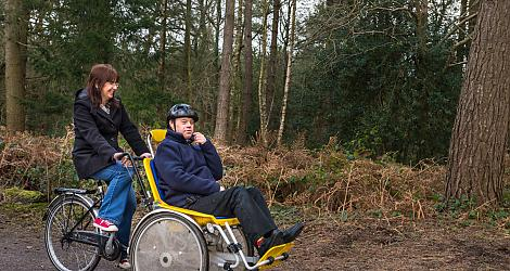 Disability cycling at Alice Holt