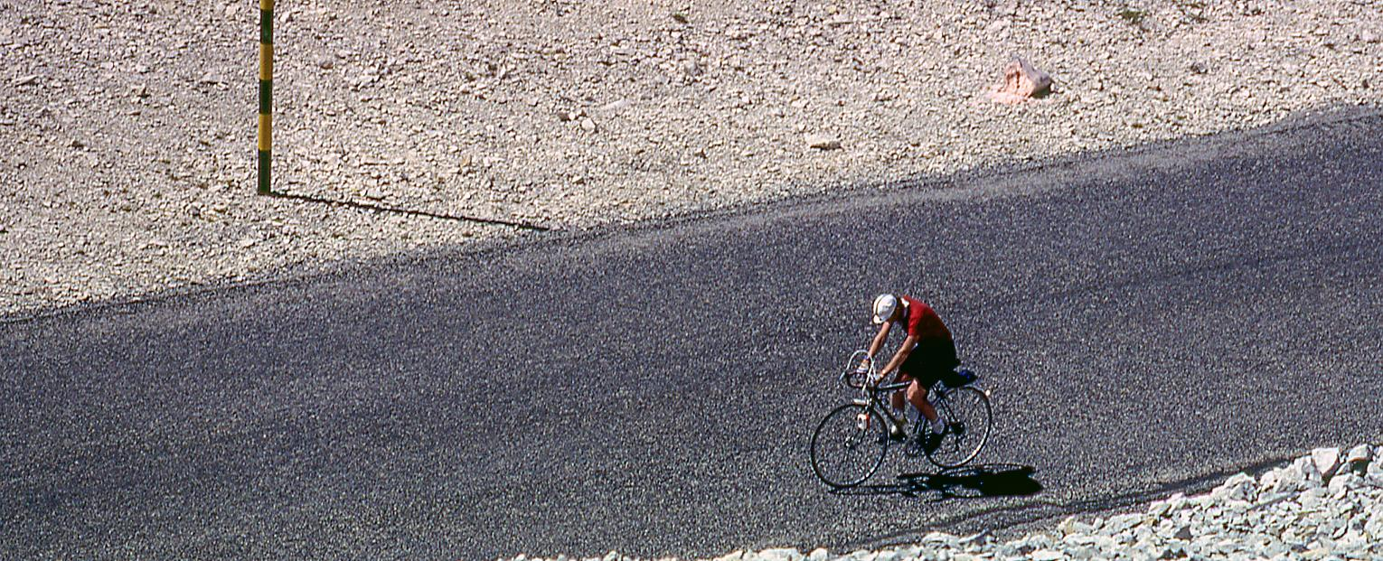 The mystery cyclist continues up Mont Ventoux