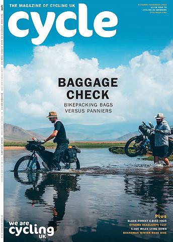 Cycle magazine, front cover October 2018