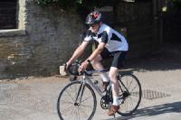 Pascal on his bike training